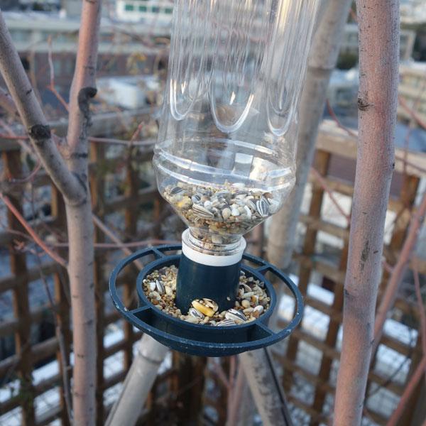 野鳥の餌台:ペットボトル用バー...