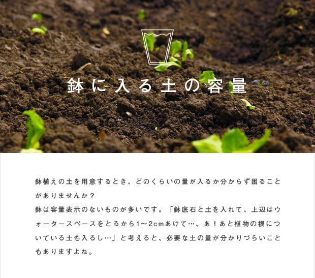 鉢に入る土の容量:栽培ガイド:栽培ガイド 『園芸ネット』本店 通販 ...
